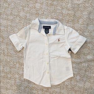 Ralph Lauren boys white oxford button up shirt 3T